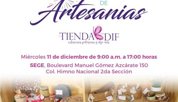 La tienda del DIF realizará dos ferias de artesanías