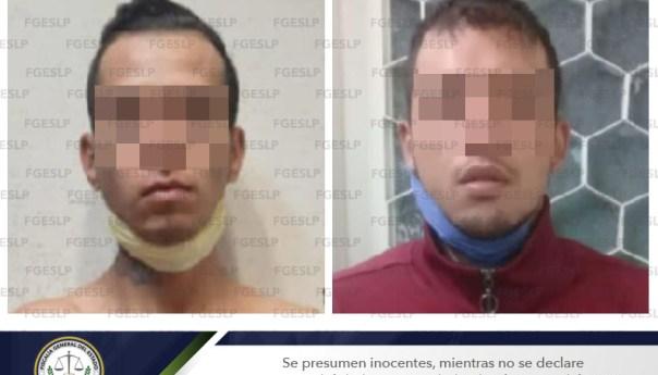 Fiscalía detiene a par de sujetos por presunto robo domiciliario en SLP