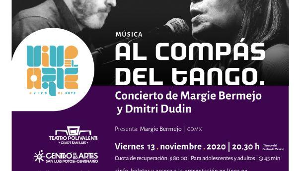 Concierto virtual de Margie Bermejo y Dmitri Dudin en Vivo el Arte del Teatro Polivalente
