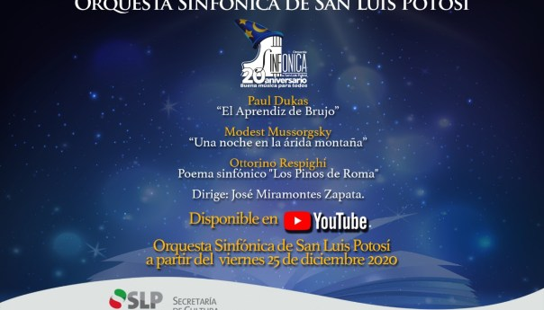 Una navidad de fantasía, presenta la OSSLP concierto este 25 de diciembre