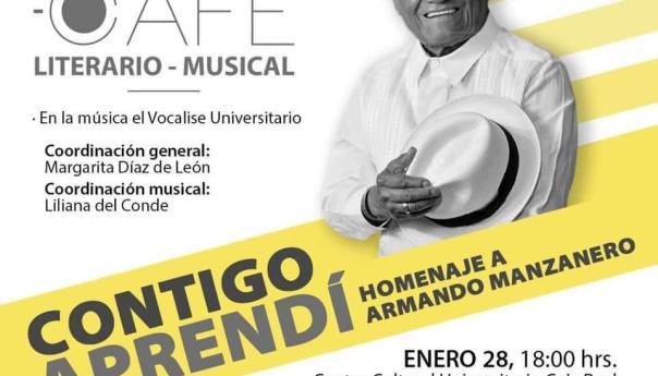 """""""Contigo Aprendí"""", homenaje de la UASLP al compositor Armando Manzanero"""