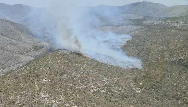 Avanza control en incendio en Guadalcázar