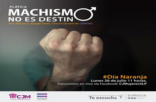 """Cjm y Gendes imparten plática """"machismo no es destino"""""""