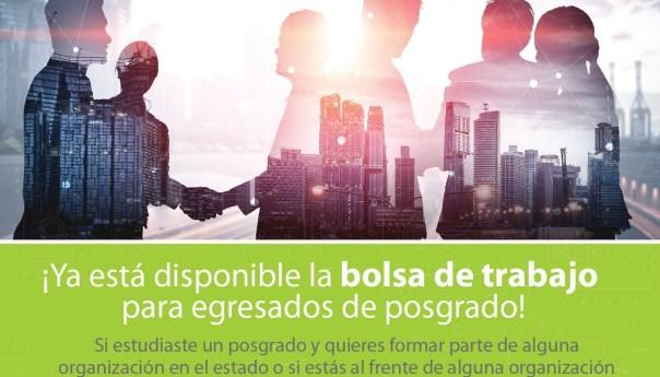 Invita COPOCYT a inscribirse en bolsa de trabajo para egresados de posgrado