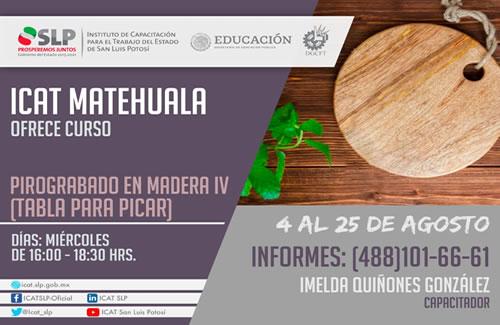 ICAT presenta cursos de capacitación durante agosto en Matehuala