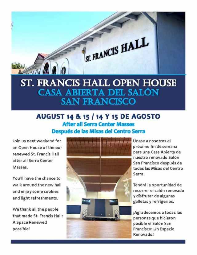 Open House: St. Francis Hall