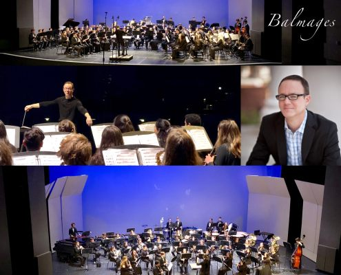 Composer Brian Balmages clinics students at San Diego Winds Festival