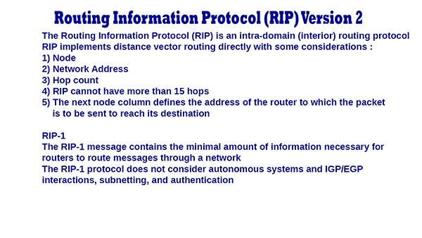Routing Information Protocol ( RIP ) Version 2