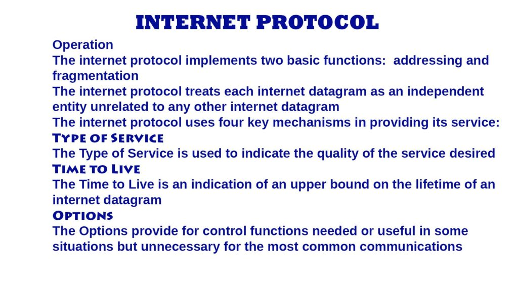 Internet Protocol (IP) – Introduction