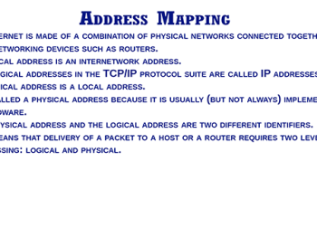 ADDRESS MAPPING