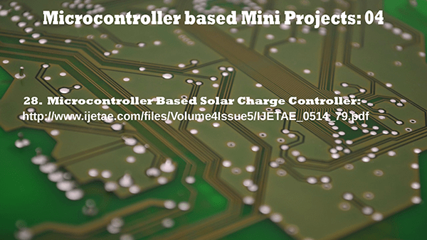 Microcontroller based Mini Projects Part – 04