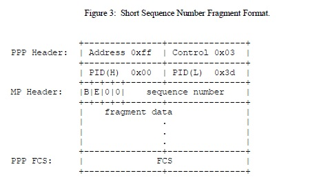 Short Sequence Number Fragment Format.