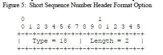Short Sequence Number Header Format Option
