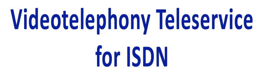 videotelephony teleservice for isdn