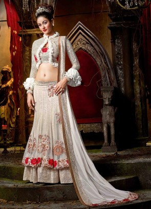 Grandiose White Lehenga Choli