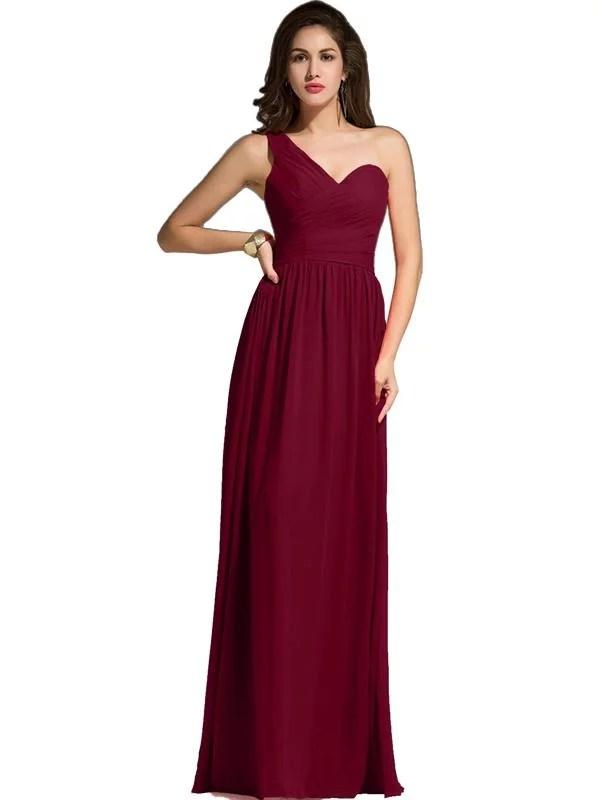 LaceShe Women's Floor Length Off Shoulder Bridesmaid Dress