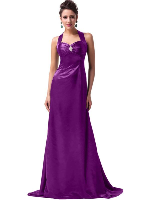 LaceShe Women's Sexy Design Floor Length Bridesmaid Dress