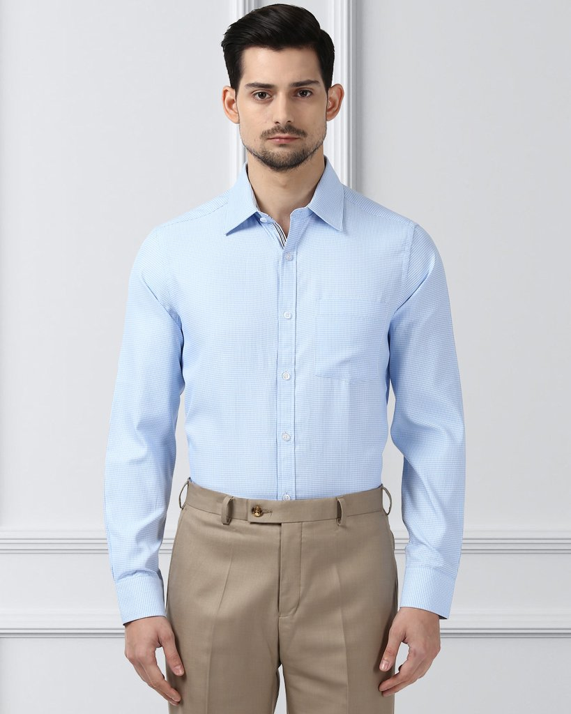 Next Look Medium Blue Regular Fit Shirt (2)