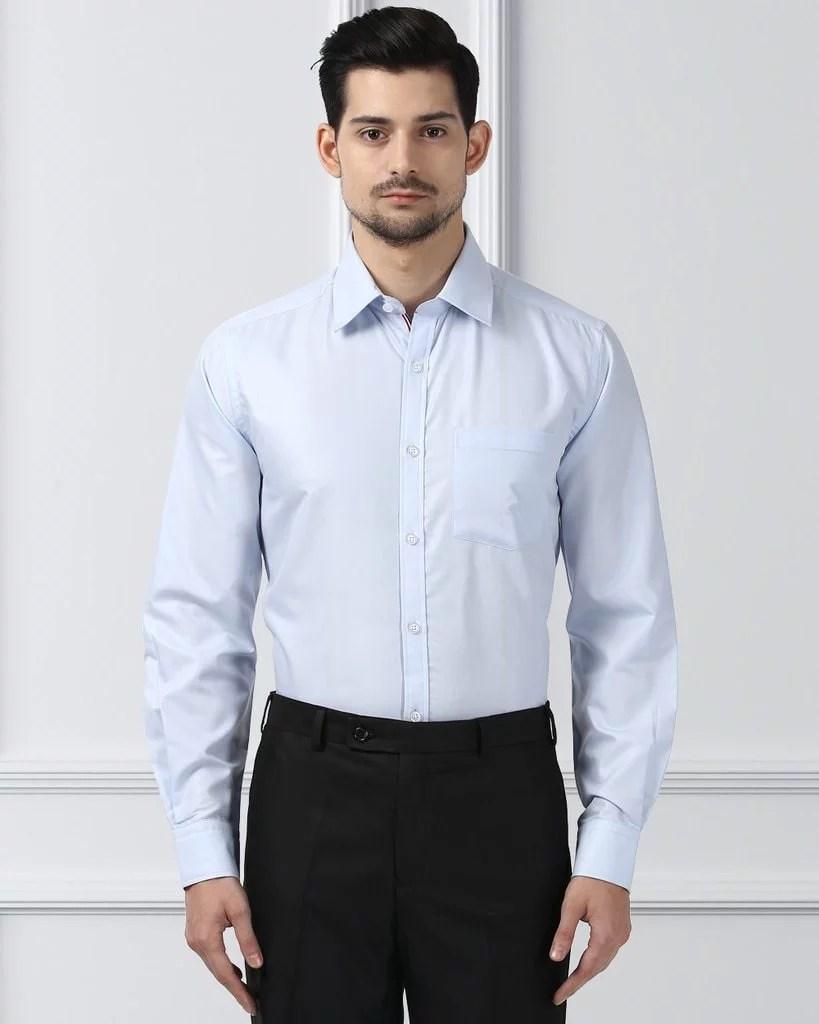 Next Look Medium Blue Regular Fit Shirt