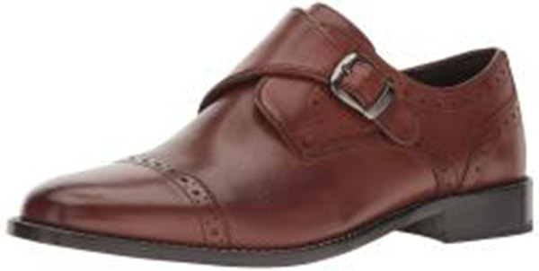 Nunn Bush Men's Newton Cap-Toe Monk-Strap Slip-on Loafer