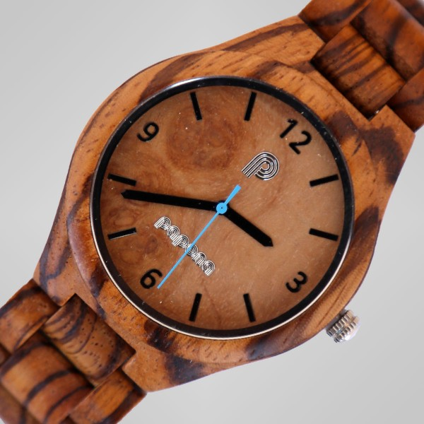 Get 38% discount on Papona Natural Wood Watch For Men - Brown