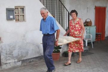 Michele Bono con la moglie
