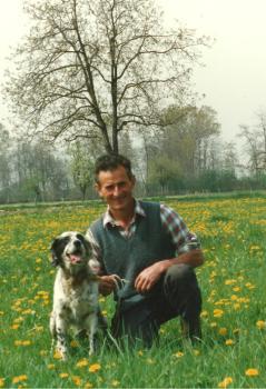 Meo e il suo cane da caccia