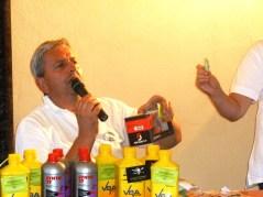 Franco Dutto durante una lotteria