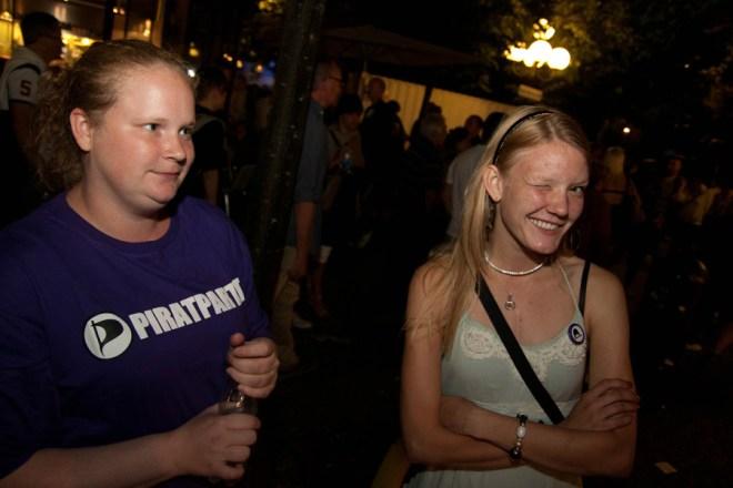 Jessica och jag utanför Pirattältet sista kvällen
