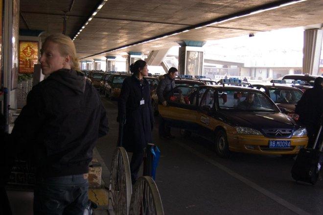 Taxisystemet vid flygplatsen
