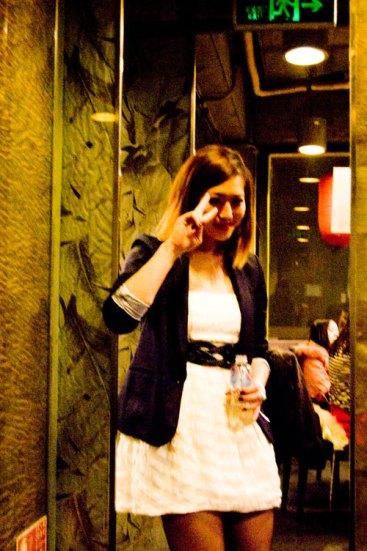 Jeanette på restaurangen