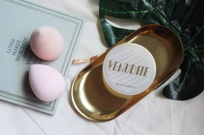 【Makeup】Venudite Cosmetics超好用的洗刷工具組出新品囉~金箔瑰蜜美妝工具清潔皂&嫩Q美肌蛋開箱試用!