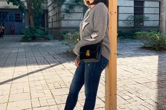 【Outfit】雙11戰利品開箱!Rails Virgo Cashmere Blend Sweater 灰色閃電毛衣