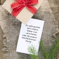 Es weihnachtet sehr: Kleine Gläser zum verschenke oder die andere Geschenkverpackung