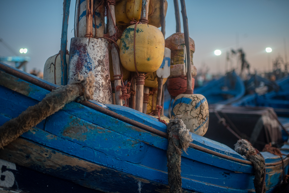 At the Margins  :  Essaouira Harbour at Dusk