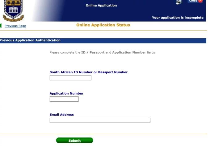 UWC Application Status