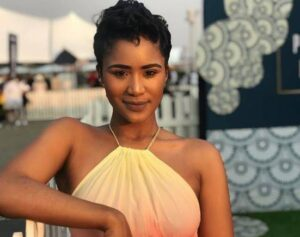 """Keke Mphuthi (born 16 February 1991) is a South African actress known for her role as Lesego in Showmax's hit series """"Unmarried""""."""