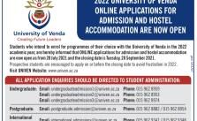 UNIVEN Online Applications 2022 | Apply to University of Venda