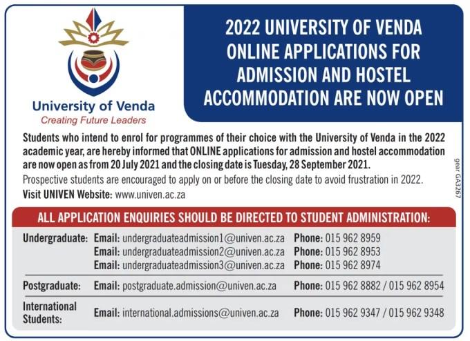 University of Venda Online Application