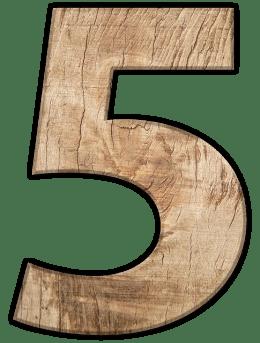 Числата в сънищата - Пет