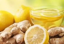 лимон и джинджифил