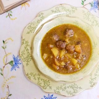 Sopa de Albóndigas (Meatball Soup)