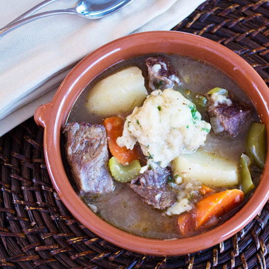 Beef Stew with Parsley Dumplings