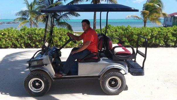 San Pedro, Ambergris Caye, Belize golf cart rental
