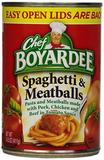 chef boyardee spaghetti meatballs
