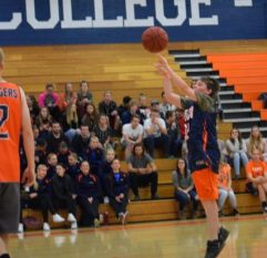 Samuel Cheney, son of Aaron and Jeana Cheney, goes up for a shot in the first game of the Badger Ballers Invitational on Tuesday, Nov. 8. Sam has an autoimmune disorder called PANDAS, as well as autism. - Photo courtesy Sandra Cox