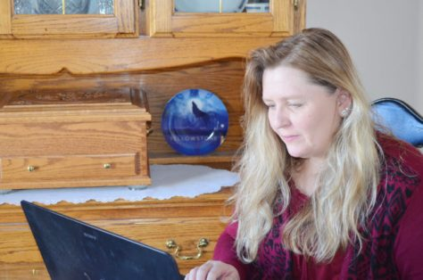 Melanie Smith, a West Jordan writer, is writing a crime series set within Sanpete County. - Linda Peterson / Messenger photo
