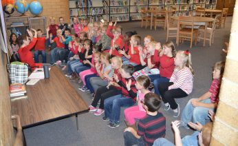 Music teacher Cami Talbot gives her time to teach students at Fairview Elementary the gift of music and encourages dance motion with the sing-a-longs. She travels between Fairview and Moroni elementary schools and teaches students in all grades new songs and radio favorites to help instill the creative arts into young minds. - Daniela Vazquez / Messenger photo