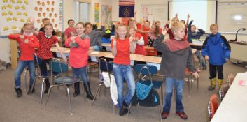 Students at Fairview Elementary wore backward or red clothes to kick off Red Ribbon Week on Monday, Nov. 23. - Daniela Vazquez / Messenger photo