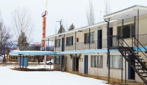 After years of scrutiny, the blighted motel on Ephraim's Main Street has been given an expiration date. The motel owner has committed to demolishing it by March 31 and redeveloping the property. - Robert Stevens / Messenger photo